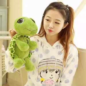 Tobefu 20cm 큰 눈 거북이 봉제 장난감 군대 녹색 거북이 동물 인형 박제 아기 키즈 생일 크리스마스 선물