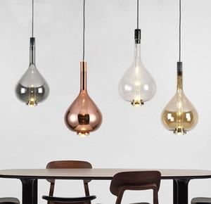 Postmodern creativo vetro nordico ristorante lampada a sospensione camera da letto comodino semplice pendente di personalità