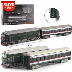 1:87 Scale Steam Train Diecast Locomotive Alloy Model Toy Cars Pull Back Train With Sound Light Railway Track Toys For Children #q20d
