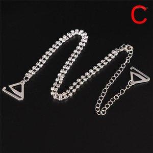 1 Pair Bra Straps 2 righe Crystal Splendido PROM PROM Diamante Rhinestone Bra Cinturino Cintura regolabile Sparkle Strap Strap1