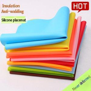 Silicone Placemat 40 * 30 cm Alimentación de la calidad de los alimentos Mats de silicona para hornear Liner aislamiento de calor Almohadilla para estudiantes Mesa de estudiante Mesa Placemats Cocina de cocción DHD3856