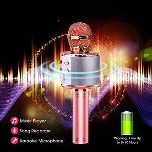 Factory wholesale direct sales Bluetooth Karaoke Microphone Wireless Microphone Professiona Speaker phone Handheld Microfone Player Singing