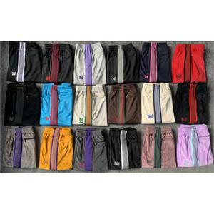 Красочные полосы Иглы AWGE Sweatpants Мужчины Женщины Jogger вскользь иглы Sweatpants бабочки вышивки AWGE Брюки