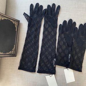 Lusso lunghe in pizzo della sposa Guanti da sposa cristalli nozze accessori guanti di pizzo per le donne spose cinque dita da polso