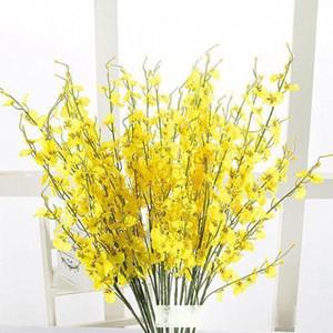Yapay Kelebek Orkide Çiçek İpek Tek Flores Düğün Şenlikli Ev Partisi Dekoratif Çiçek Toptan 0007FL Malzemeleri