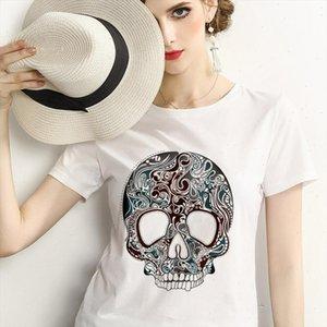 cranium T Shirt Women Print Harajuku fashion Tshirt Summer 2021 Female White T shirt Woman Tee Tops Korean New Shein