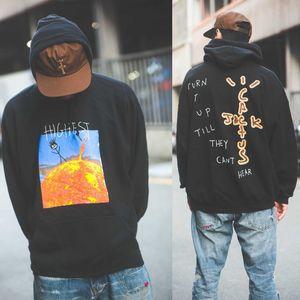 Europeo y americano marca calle de la moda tie-dye hombres y mujeres suelta par suéter de manga larga chaqueta suéter encapuchado