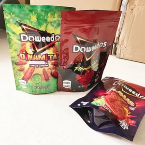 새로운 6 종류의 냄새 자식 증거 가방 Doweedos Mylar 가방 지퍼 잠금 파우치 쿠키 가방 Gummies Edibles 포장 감자 칩 가방