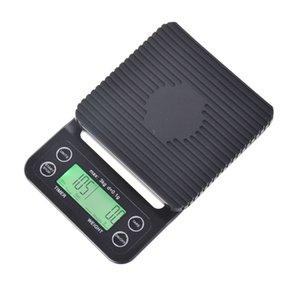 Mini goteo escala digital con temporizador 3kg 0.1g Scale de cocina electrodiática básica de horneado Ponderación de la tabla de café V60 T200326