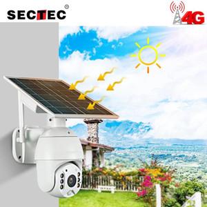 Sectec Wifi 4G الشمسية IP PTZ كاميرات Starlight كامل اللون IR Vision P2P 4G SIM بطاقة IR Vision Dome Camera Cloud Camera Camera