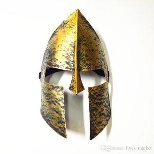 Maschere Warrior Helmet travestimento di Halloween Horror decorazioni completa Eroe faccia Cavaliere partito Spartan per Mask Maschera di Halloween di Natale FHH7- Jwce