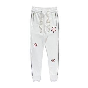 패션 복고풍 남성 바지 높은 품질면 코지 트랙 조깅 별 인쇄화물 바지 바지 가을 겨울 탄력있는 허리 하렘 스웨트 팬츠