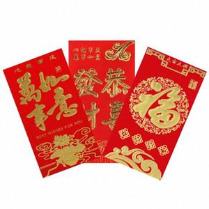 Düğün Rat Yıl Lucky İçin 2020 Çin Yeni Yıl Şenlikli Kırmızı Zarflar Hediye Kartı Çinli Kırmızı Para Cepler DQYX # Cepler