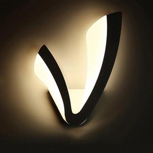 Modern LED Wall Lamp For Bathroom Bedroom 10W Wall Sconce White Indoor Lighting Lamp AC90-265V LED Light Indoor Lightin bra #mu1S