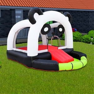 Indoor Kids Inflatable Bounce House Yard Panda Bear Style Jumper Bouncer Mini Bouncy Castles With Slide And Blower