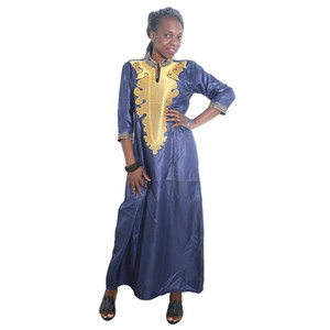 MD 2020 african dresses for women bazin riche embroidery dashiki dress south africa clothing ladies traditional african dresses