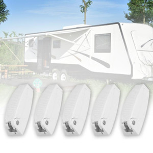 5pcs Room ABS White Anti Impact Baggage Travel For RV Hook Holder Trailer Clip Motorhome Door Catch Window Storage1