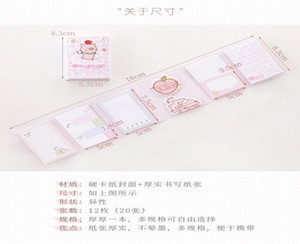 Hello Little Pig 6 Folding Memo Pad N Times Sticky Notes Memo Notepad Bookmark School Office Supplies Papelaria bbyXop xmh_home