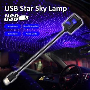 360° 12V USB LED Car Roof Star Night Lights Projector Light Interior Ambient Atmosphere Galaxy Lamp Decoration Light USB Plug