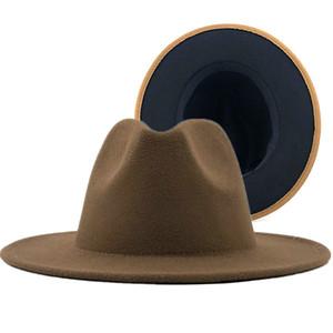 Top Hat Мужчины и женщины Новый шерстяной верблюд Национальный стиль джазовой шляпы кашемира Autuam зимняя летняя пружинная пружина платье шляпа шапки 22 цвета выбирают