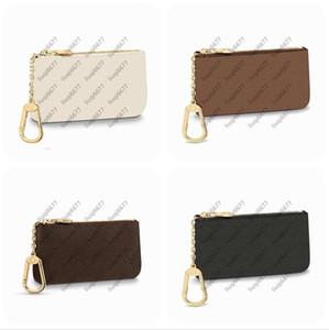 Moda Key Bolsa Pochette Cles Mulheres Mens Brown Velho Flor Chaveiro Titular Cartão de Crédito Moeda Bolsa Mini Carteira Saco Com Caixa