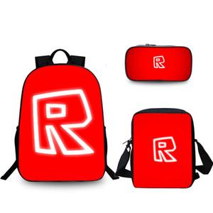 3 PC / Satz Spiel Rucksack Roblox Boy Kid Mäppchen Students besten Geschenke für Kinder Schulranzen Mochila