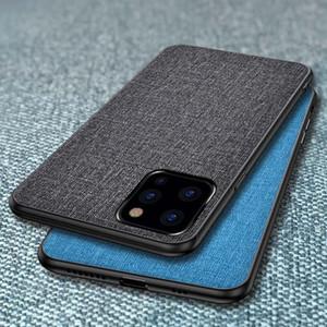 Tela caja del teléfono para iPhone 12 11 Mini Pro MAX XS XR 7 8 más 2 SE plástico cáscara de la cubierta posterior