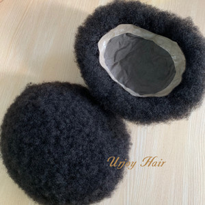 Men Hair Replacement Systems Mono Lace PU Indian Remy Hair Men Toupee Replacement For Hair Loss Men