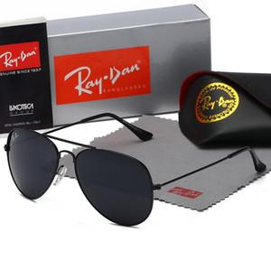 Hohe Qualität NewStrahlMänner-Frauen-Sonnenbrille Weinlese-Pilot Marke Sun-Glas-Band UV400SperrenBen Sonnenbrille mit Box 3025
