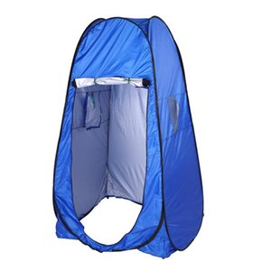 Camping outdoor automatic tent portable private shower toilet camping popular tent UV function summer bath dressing blue tent