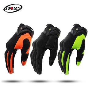 SUOMY Motorrad Männer Motocross Vollfinger Guantes Gant Moto Handschuhe Reit Motorrad Sommer Grün Schwarz Orange #