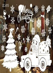 Christmas Shop Window Decoration Wall Removable Stickers Merry Christmas Bells Deer Stickers Wall Home Decoration Xmas New Year sqcyMU