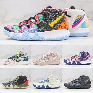 2021 Kybrid S2 EP Qu'est-ce que les chaussures de basket-ball de Kyrie Néon Néon Camo Mens de Basket-ball de Kyrie Camo Sashiko Pack Hommes Formatrice Sneakers Taille 40-46