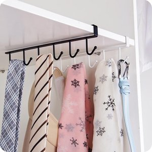 Cupboard Hook Kitchen Cabinet Door Shelf hook Kitchen Glass Mug cup Storage Hanging Rack wardrobe hanger Tie organized rack