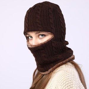 Sparsil Unisex Winter Beanies Hat Face Mouth Защита Толстые Caps