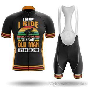 Eu monto como uma velha bicicleta ciclismo jersey mtb mountain bike roupas homens set curto ropa ciclismo roupas de bicicleta maillot culotte