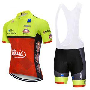 2020 Summer Italia Team Men &#039 ;S Cycling Jersey Bib Shorts 3d Gel Pad Set Cycling Clothing Ropa Ciclismo Cycle Maillot Clothing Y021