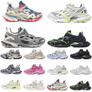 2021 Высококачественные мужчины Женщины Track 4.0 2.0 3.0 Спортивная обувь Трехместный S Черный Сравнить Кроссовки Зеленые Моды Тренеры 18ss Подобный дизайнер