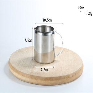 Edelstahl-Tasse Milch Mini-scharfen Mund-Becher Ziehen Blumen-Schaumstoff-Pitcher-Kaffee-Coffee-Shop verschiedene Größen heißer Verkauf 9 3JR K2