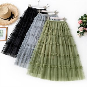 2020 Summer New Arrival Women Skirt French Romantic Style Fairy Polyester Cupcake Design Cotton Free Shipping