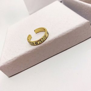 D family Di family JA letter ring high-end re-engraving 2020 new personalized all-match letter Band Rings