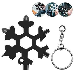 Multi 18 Anillo de bolsillo Llavero Abridores Sobrevivir 1 Caminata Spanne campo Multipurposer herramienta multifunción caliente del copo de nieve al aire libre Hex tseti DWF2348