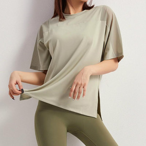 Sportswear T-shirt Women Short-sleeve Trainning Exercise T-shirts Casual Mesh Shoulder Fitness Top Run Quick Dry Yoga T Shirt