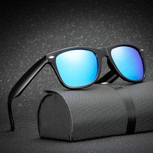 Hjyfino Unisex Retro Polarize Güneş Gözlüğü Ayna Lens Vintage Güneş Gözlükleri Erkekler Kadınlar için Polaroid Güneş Gözlüğü UV400 Retro de Sol