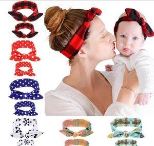 Printed Mother Child Hair Accessories Parentchild Rabbit Ears Headband Baby Hairband Headwear Mom And Son Set Zro4G Rslye