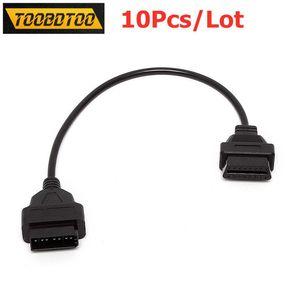 10pcs / lot Diagnostic Connector Para 14pin Adaptador OBD2 Connector para OBD2 16Pin Feminino 14pin Cable Car Para