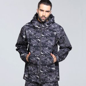 Military camouflage windshield waterproof coat master outdoor climbing riding gentle Arctic shell thick hot jacket tactics