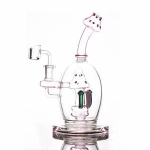 8.6inch гриб бом Розовый Dab Рог Showerhead Проц стекла водопроводная труба Бал Стиль Масло Dab Rigs Уникальный бонги курительные трубки 14 мм Шарнир