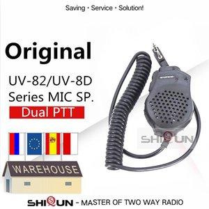 Dupla PEarpiece MIC Speaker UV82 UV-8 UV82L UV-89 UV82 Além disso UV-82TP GT-5TP UV-82HP UV-82HX microfone para UV-8D UV 82 UV82