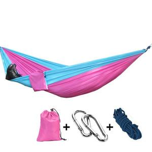 Tragbare Fallschirm Doppel Hängematte Garten Outdoor Camping Reise Möbel Überleben Hängematten Swing Schlafendes Bett für 2 Personen